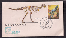 Argentina FDC Dinosaures 1992 - Archaeology