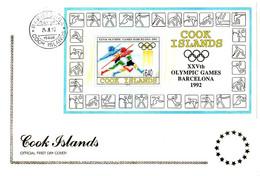 Cook Islands 1992, 1992 Barcelona O.G. / J.O. De Barcelone / FDC - Summer 1992: Barcelona