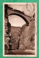 06 Alpes Maritimes Route De Breil à Fontan Pont Sur Les Gorges De Saorge Avec Train - Structures