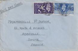 ENVELOPPE TIMBREE DE GRANDE BRETAGNE  A 80100 ABBEVILLE VERS 1945 - Usados
