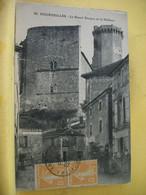 24 9177 CPA 1924 - 24 BOURDEILLES. LE GRAND DONJON ET LE CHATEAU - EDITEUR CL. R. LACROIX N° 92 - ANIMATION - Altri Comuni