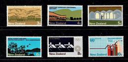 New Zealand 1973 Anniversaries Set Of 6 MNH - Ongebruikt