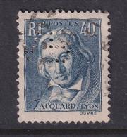 Perfin/perforé/lochung France 1934 No 295 VB Varin Bernier (8) - Perforés