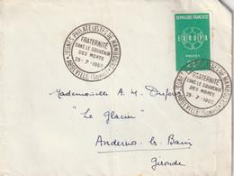 ENVELOPPE TIMBREE En 1960 / JEUNES PHILATELISTES DE HAMBOURG - FRATERNITE DANS LE SOUVENIR DES MORTS - Usados