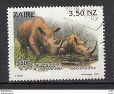 ZAire, 1993, Parc De La Gamba, Rhinocéros - Rhinoceros