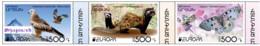 "Artsakh 2021 ""Europa""The National Endangered Wildlife. Red Kite,Marbled Polecat,Apollo"" 3v Quality:100% - Armenia"