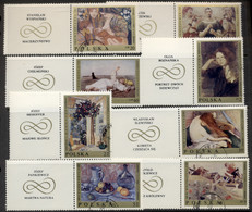 Poland 1969 Paintings + Labels CTO - Used Stamps