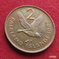 Falkland  Islands 2 Pence 1987 KM# 3  *V1 Malvinas Malwinen - Falkland Islands