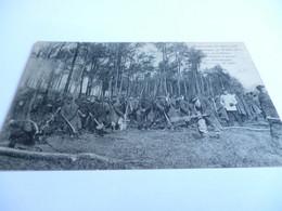 CP 14/18 PRISONNIERS DE GUERRE FRANCAIS INTERNES EN ALLEMAGNE CORVEE D'ABATTAGE DE BOIS - 1914-18