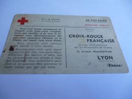 39/45 CARTE LETTRE DE LA CROIX ROUGE DE LYON DES PRISONNIERS DE GUERRE PASSAGE DU TRAIN - 1939-45