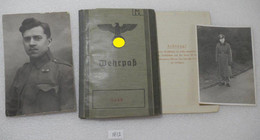 WW2 German Military Passport ID 1939 Wehrpass With 2 Add. Photos Of The Owner 1914-41 - 1939-45
