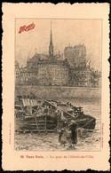 31kst 1237 CPA - VIEUX PARIS - LE QUAI DE L'HOTEL DE VILLE - Andere Monumenten, Gebouwen