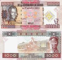 Guinea 2010 - 1000 Francs - Pick 43 UNC Commemorative - Guinea