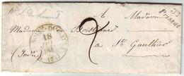 Cursive 35 PRISSAC Indre Lettre Avec Texte 1844 , Cachet St Benoist Du Sault - 1801-1848: Précurseurs XIX