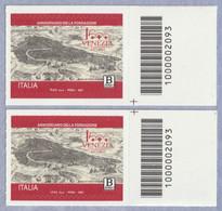 ITALIA 2021 Venezia Anniversario Della Fondazione Codice A Barre DX-SX Basso - Bar Codes