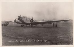 CPA - Junkers 52 Kernilis - De La SANA ( Société Auxiliaire De Navigation Aérienne ) - Port Aérien De Lyon Bron - 1919-1938