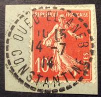 138 ° 47 Constantine Oued El Aneb Semeuse 10c Rouge 14/7/1914 Oblitéré - 1877-1920: Semi-Moderne