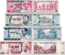 Guinea Bissau 1990-93 - Set 50+100+500+1000 Pesos - Pick 10-13 UNC - Guinea-Bissau