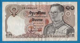 THAILAND 10 BAHT # 1E1650280 Sign. 60  P# 87  King Rama IX - Thailand