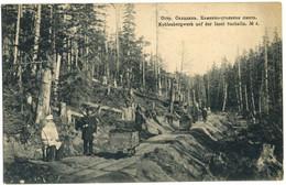 CPA RUSSIE Kohlenbergwerk Auf Der Insel Sachalin N°4 Peu Courante - Russia