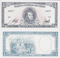 Chile 1962-1975ND - 1/2 Escudo - Pick 134A UNC - Chile