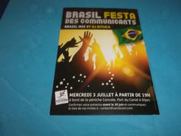CARTES POSTALES  PUBLICITAIRES BRASIL FESTA  PENICHE CANCALE DIJON - Advertising