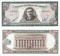Chile 1962-1975ND - 50 Escudos - Pick 140b UNC - Chile