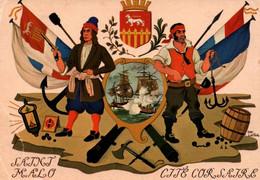 CPSM - St MALO - Illustration DAN LAILER - Allégorie De La Course Malouine …Edition M.Guérin - Saint Malo