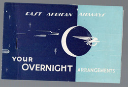Nairobi ( Kenya) Document EAST AFRICAN  AIRWAYS (1 Feuillet à L'intérieur)  (PPP27813) - Non Classificati