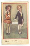 Mauzan - Teenage Girls Dressed In Latest Fashion - Old Artistic Postcard - Mauzan, L.A.