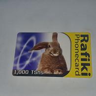 Tanzania-(TZ-TTCL-0018/1)-sungura Mjanja-(3)-(Tshs-1.000)-(0023-048670)-used Card+1card Prepiad/gift Free - Tanzania