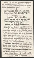 Geel, Bell-Gheel, Josphina Verhoeven, Lommelen - Devotion Images