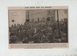 Les Jeux Sur Le Front Pots Suspendus Lapin Eau Cendres - 1914-18