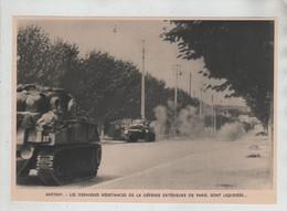 Antony Les Dernières Résistances De La Défense Extérieure De Paris Sont Liquidées Blindés à Identifier - 1939-45
