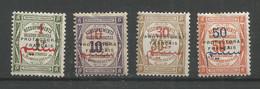 Maroc 27 - 1915 Taxe N°23 à 26 - Postage Due