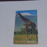 Tanzania-(TAZ-T-01A)-giraffe-(8)-(150units)-(number Left Up)-(00106107)-used Card+1card Prepiad/gift Free - Tanzania