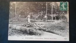 91 -MONTGERON - FORET DE SENART -BUCHERONS EN FORET - Montgeron