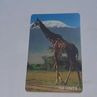 Tanzania-(TAZ-T-01B)-giraffe-(9)-(150units)-(number Rite Side)-(C61156474)-used Card+1card Prepiad/gift Free - Tanzania