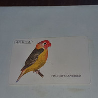 Tanzania-(TAZ-T-12B)-fischer's Lovebird-(11)-(40units)-(0040-131452)-used Card+1card Prepiad/gift Free - Tanzania