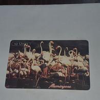 Tanzania-(TAZ-T-15A/1)-flamingos-(14)-(10units)-(0010-523771)-used Card+1card Prepiad/gift Free - Tanzania