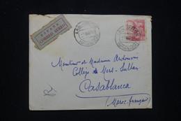 ESPAGNE - Enveloppe De Lanjarón Pour Le Maroc En 1952 Par Avion - L 92839 - 1951-60 Cartas