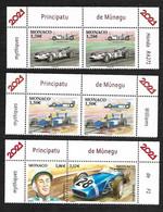 Monaco 2021 -  Yv N° 3270/3271 Et 3272 & 3273 ** - Honda RA271(2X) - WilliamsRenauly FW14B (2X) - Stirling Moss - Unused Stamps