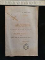 Allocution A L'occasion De L'érection , De La Statue De Jeanne D'Arc, Collège De Thoissey, 1897 - Religion