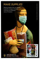 "Ukraine Anti COVID-19 Postcard ""MAKE SUPPLIES"" With COVID Stamp/Postmark - Ziekte"