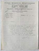 1934 - MÉRÉVILLE ( 91 ) - SEINE ET OISE - UNION SPORTIVE MÉRÉVILLOISE - FOOTBALL - STADE MUNICIPAL DU BOIS DE BOULOGNE - Non Classificati