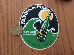 AUTOCOLLANT, Sticker «PICPOUL De PINET » (vin) - Stickers