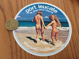 AUTOCOLLANT, Sticker «le Pays De La Liberté - Port Leucate (11)» (enfants Nus Sur La Plage) - Stickers