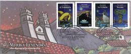 GUATEMALA 2012 UPU UPAE UPAEP UNION POSTAL AMERICA ESPANA PORTUGAL FDC MYTHS AND LEGENDS - WPV (Weltpostverein)