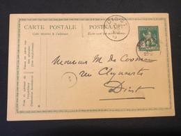 Postkaart Uitgifte Pellens - Leeuw 5c - Hasselt - Diest 28 VII 1919 - Cartoline [1909-34]