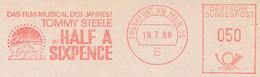 Freistempel 10.010 Film Musik Half A Sixpence - Affrancature Meccaniche Rosse (EMA)